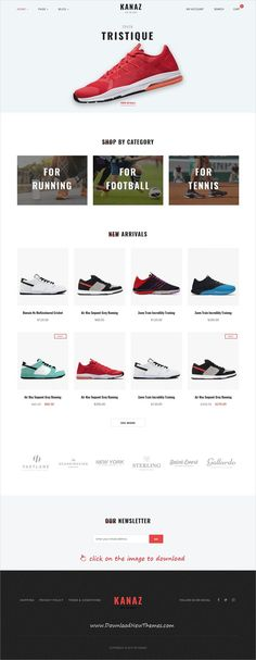 Kanaz is clean and modern design 5in1 responsive WooCommerce #WordPress theme for stunning #shoes shop #eCommerce website to live preview & download 👆 click on the image.