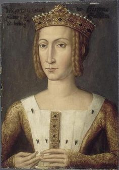 Familles Royales d'Europe : Marguerite de Flandres, duchesse de Bourgogne, wearing hairstyles of the late middle ages, with a crown worn over her coiled braids. Medieval Costume, Medieval Art, Medieval Times, Medieval Fashion, Medieval Clothing, Philippe Auguste, Luis Xiv, Renaissance Portraits, Late Middle Ages