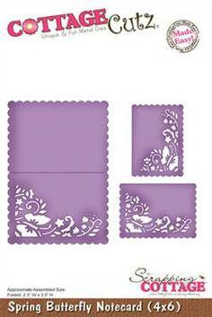 CottageCutz - Spring Butterfly Notecard