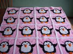 I finished my rush order for the girl's Penguin blanket/afghan. This is hand crocheted and adapted from a pattern I purchased on ebay.  I always like to tweek patterns to my own liking.