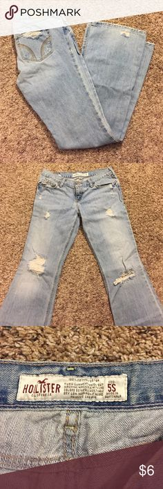 Hollister Jeans Have been worn. Pictures show the condition. Make for cute hippie jeans! They are flare jeans Hollister Jeans Flare & Wide Leg