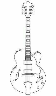 Baú da Web: Desenhos de guitarras para colorir