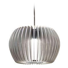 Wac Lighting Industrial Collection Chrome LED Mini-Pendant with Drum Shade at Destination Lighting
