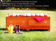 Bench Storage Dresser by SommerStudios on Etsy, $150.00