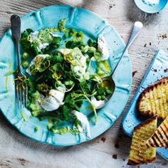 Buffalo mozzarella and pea salad - Sainsbury's Magazine