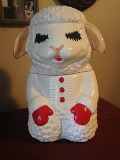 Vintage Lamb Chop Cookie Jar