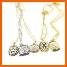 '71,'77,'92.'93.'95 Dallas Cowboy Super Bowl Ring Necklace set