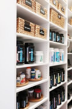 Space Lift: Walk In Pantry - NEAT Method Pantry Interior, Black Bin, Get Her Back, Chalkboard Labels, Water Hyacinth, How To Show Love, Walk In Pantry, Color Stories, Bathroom Medicine Cabinet