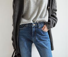 gray on gray | casual | sweaters and cardigans | jeans