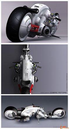 Detonator by Daniel Simon Futuristic Motorcycle, Futuristic Cars, Motorcycle Design, Bike Design, Concept Motorcycles, Cars And Motorcycles, Monocycle, Bric À Brac, Ex Machina