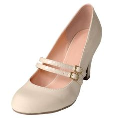 Amazon.com: Brinley Co Womens Mary Jane Patent Leather Pumps: Shoes