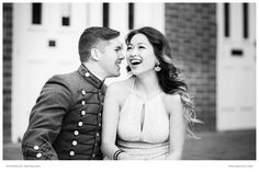 Thieny and Dakota's couple portrait session was captured in Old Town, Alexandria.