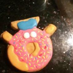 #cookietime #shopkins #donut #dona #rosa #pink #galleta #pintando #glasareal #royalicing #royalicingcookies #cumpleaños