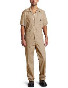 Dickies Men's Big-Tall Short Sleeve Coverall, Khaki, 4X/Tall