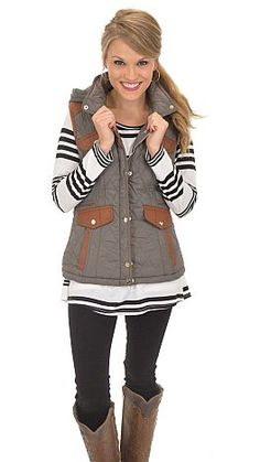 With all the detail on this vest, it's a miracle that it won't break the bank! $42 at shopbluedoor.com
