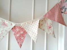 Pastel Shabby Chic Fabric Banners Bunting Garland by BerryAlaMode, $29.00