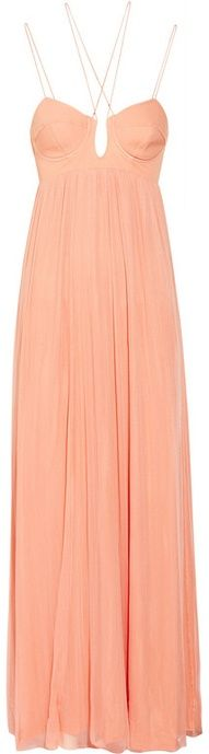 Beautiful Peach Maxi Dress