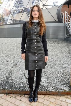 Joana Preiss attends the Louis Vuitton show as part of the Paris Fashion Week Womenswear Fall/Winter 2015/2016 on March 11, 2015 in Paris, France.