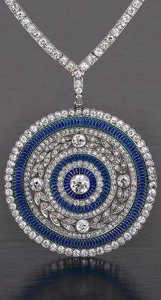 Diamond Jewelry Edwardian Plique a Jour diamond necklace - 1905 www. Sapphire Necklace, Sapphire Jewelry, Diamond Jewelry, Diamond Necklaces, Diamond Choker, Necklace Set, Choker Necklaces, Lotus Necklace, Sapphire Pendant