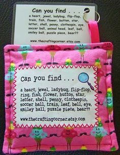 The Crafting Corner: Picture List Mini I Spy Bags