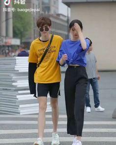 Couple Clothes, Couple Outfits, Asian Street Style, Korean Couple, Ulzzang Couple, Fashion Couple, Tik Tok, Cute Couples, Couple Goals