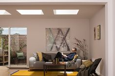 The VELUX curved glass rooflight has a unique curved surface that lets in more daylight and stands out externally as a modern addition to roof surfaces. Roof Window, Roof Light, Curved Glass, Flat Roof, Windows, Mirror, Modern, Table, Design