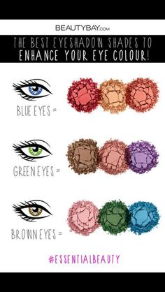 Eye colour eye shadows