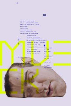 Visual Identity / Ron Mueck Exhibition on Inspirationde Web Design, Layout Design, Design Art, Design Typography, Branding Design, Packaging Design, Museum Poster, Poster Layout, Communication Design