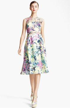 Erdem Imperial Rose Print Silk Brocade Dress available at #Nordstrom