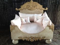 Luxury Chic N Shabby Bed- Beds, Blankets & Furniture - Furniture Style Beds Posh Puppy Boutique