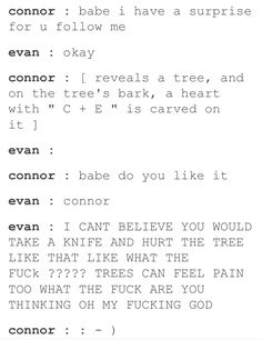 I don't ship Evan and Connor, I just thought this was funny, Theatre Nerds, Musical Theatre, Theater, Evan And Connor, Dear Evan Hansen Musical, Dear Even Hansen, Connor Murphy, Be More Chill, Out Of Touch