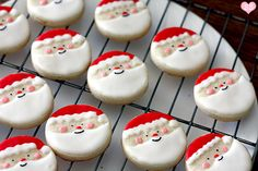 Father Christmas Biscuits #baking #cookies