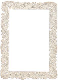Vintage Lace Frame ~ Zibi Vintage Scrap