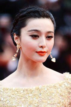 El maquillaje y peinado de la actriz china Fan Binbing Cannes 2013