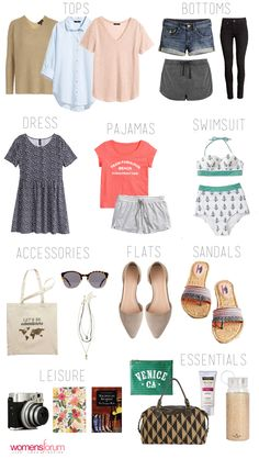 3-Day Packing List for A Quick Trip http://www.womensforum.com/3-day-packing-list-for-spring-break.html #womensforum