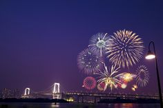 Tokyo Bay Grand Fireworks Festival by iLoveHTC on Fireworks Festival, World Street, Go To Japan, City Lights, Tokyo, Fair Grounds, Awesome, Travel, Viajes