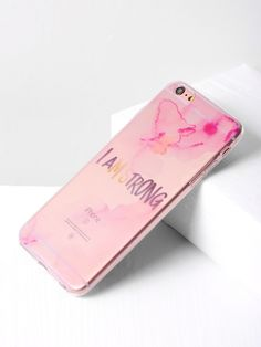 f1aa0f23a2 Shop Letter Print Clear iPhone 6 Plus/6s Plus Case online. SheIn offers  Letter