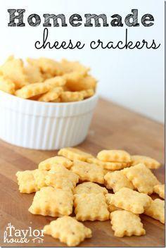 Homemade Cheese Crackers, Homemade Cheese Its