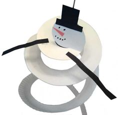 Ideias Giras: Móbile de Bonecos de Neve