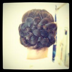 braided chignon.