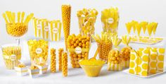 Yellow Candy Buffet - Party City Maybe not in school colors because they don't have a dark green?