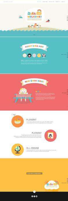Quba kids - website and branding on behance Design Web, Kids Graphic Design, Page Design, Webdesign Inspiration, Website Design Inspiration, Logo Inspiration, Website Layout, Web Layout, Layout Design