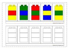 idéesautisme: Suivi de modèles (avec des légos) Lego Activities, Toddler Learning Activities, Preschool Education, Preschool Worksheets, Kindergarten Activities, Kids Learning, Lego Duplo, Lego Therapy, Modele Lego
