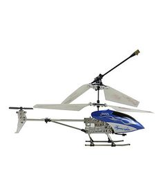 Loving this Silver & Blue Remote Control Helicopter on #zulily! #zulilyfinds