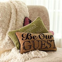 Beauty and the Beast Pillow - ''Be Our Guest''