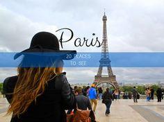 20 lugares para visitar em Paris