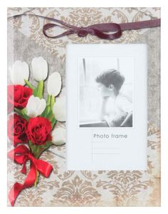 "Ramă foto ""White Tulip"""