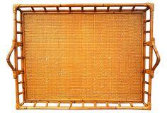 Gallery-Edged Bamboo Tray on OneKingsLane.com