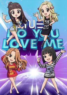 Awe luv the lil chibis! 2ne1, Kpop Girl Groups, Korean Girl Groups, K Pop, Sandara Park, Kpop Fanart, Anime, Yg Entertainment, Bigbang