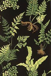 Thibaut stunning Fern print wallpaper #thibaut #leafwallpaper OMG  I lovE this in black !